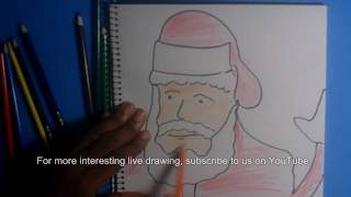 How To   Draw Santa Claus Quickly And In Color