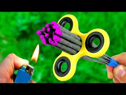 Amazing Experiment Fidget Spinner  Sparklers