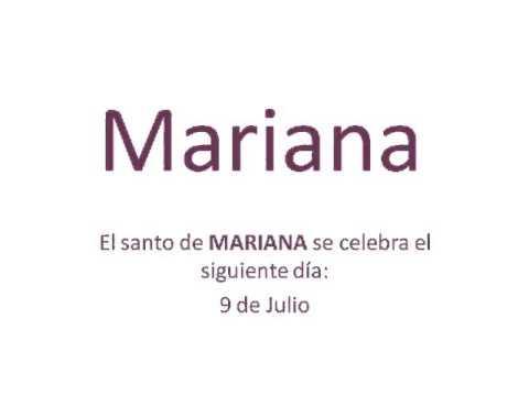 Origen y significado del nombre Mariana - YouTube