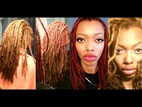 Color Rinse vs. Dye Semi-Permanent Red Dye on my Blonde Locs