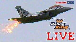 *FLARE COUNTER-MEASURES* Thrust Vectored RAFALE RC turbine jet (Mark Hinton): HOBBYKING UK LIVE