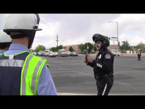 107th Albuquerque Police Academy Directing Traffic