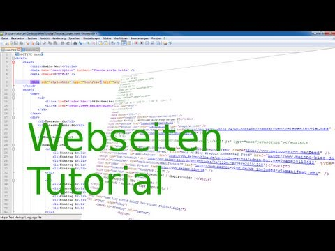 Tutorial: Webseiten erstellen #1: Einführung, Html Grundlagen