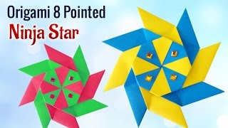 Project for Kids : How To Make DIY 8 Pointed Origami Ninja Star | Kids Activities