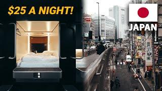 $25 CAPSULE HOTEL TOUR IN TOKYO JAPAN!
