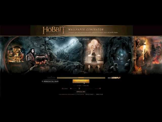 The Hobbit - Wallpaper Generator