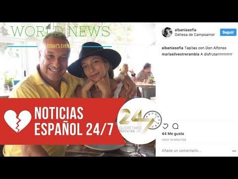 Miguel Ángel Silvestre, en España con su novia Albania Sagarra