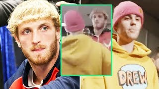 Justin Bieber responds to KSI with a painful kick to Logan Paul