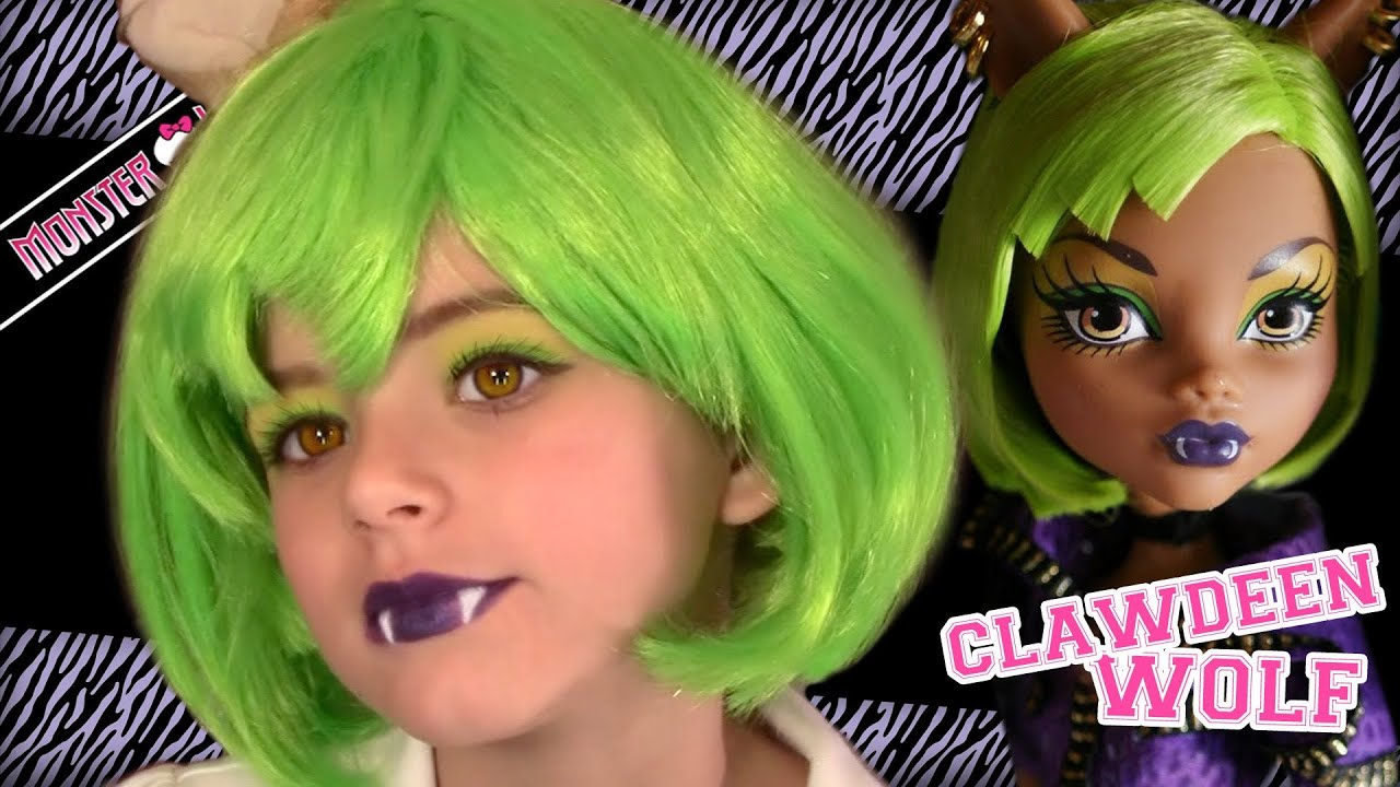 Clawdeen wolf dawn of the dance monster high doll costume makeup