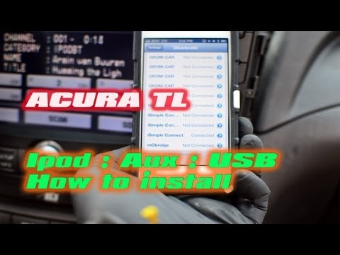 ACURA TL CONNECT IPOD BLUETOOTH USB AUX SAT [iSimple ISHD651 PXAMG]