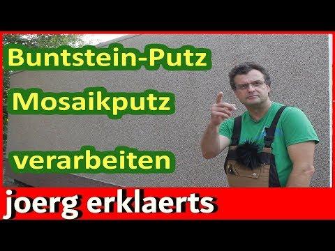 Mosaikputz die Verarbeitung Buntsteinputz anbringen Anleitung Tutorial #2077