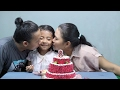 Potong Kue Ulang Tahun Di Rumah  - Happy Birthday Little Princess Shinta Ke 8