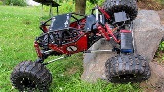 G-made R1 on Extreme Rock Crawling Playground