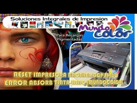 Reset impresora Brother DCP J140W - ERROR absorb tinta lleno (MUNDOCOLOR)