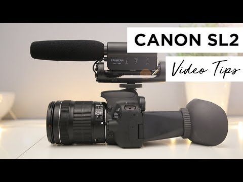 Canon SL2 (200D) Tutorial - Best Settings For High Quality Video