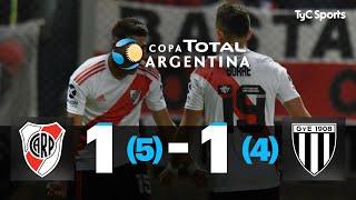 Copa Argentina: River 1 (5) - 1 (4) Gimnasia de Mendoza