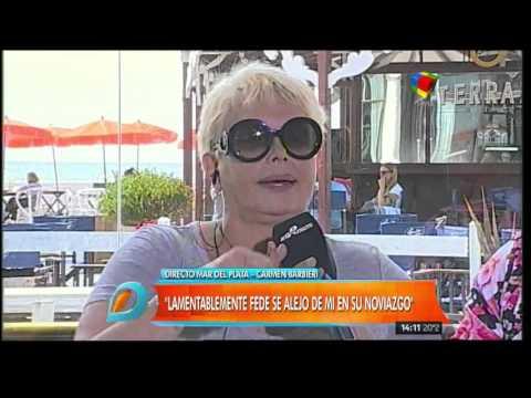 Carmen Barbieri: Estaba alejada de Fede, preferían ir a comer con Santiago