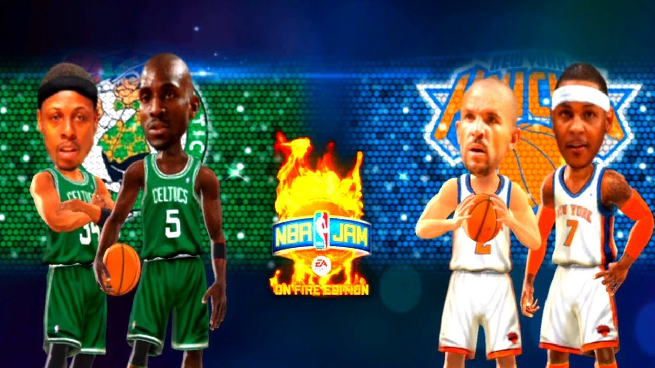 NBA Playoffs 2013 - Boston Celtics vs New York Knicks - Game 1 - 1st Half - NBA JAM 2k13 - HD ...