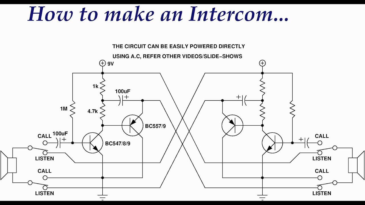 Simple Two Way Intercom Circuit Diagram - oukas.info