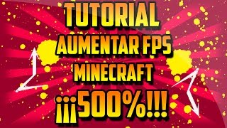 MINECRAFT EN PC ANTIGUAS/OPTIMIZAR UN 500%! 2017 HD