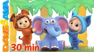 😘 Down in the Jungle | Nursery Rhymes and Kids Songs | Baby Songs from Dave and Ava 😘