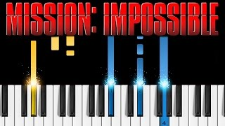 Download Lagu Mission Impossible Theme - EASY Piano Tutorial Gratis STAFABAND