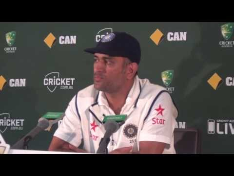 MAHENDRA SINGH DHONI RETIREMENT PRESS CONFERENCE (didn't said anything in PC)