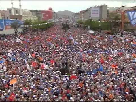 10 Haziran 2011 AK Parti Erzurum Mitingi Recep Tayyip Erdoğan Full Kalite LOGOSUZ 1/5