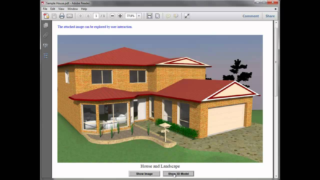 Creating 3d Pdf Files From Sketchup Using Irender Nxt