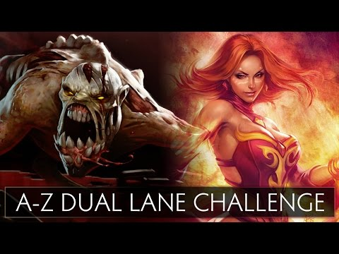 Dota 2 A-Z Dual Lane Challenge - Lifestealer and Lina