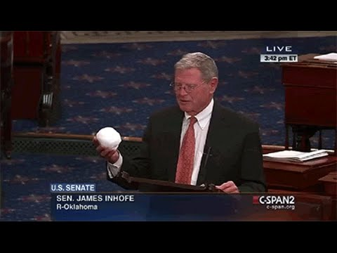 Jim Inhofe: Snowball Disproves Climate Change