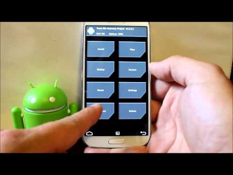 Galaxy S4 how to make a Nandroid backup in TWRP custom recovery