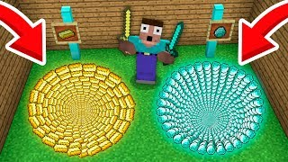 NOOB vs PRO Minecraft: WHICH HOLE NOOB SHOULD CHOOSE? GOLD HOLE vs DIAMOND HOLE! 99% trolling