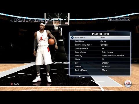 NBA LIVE 15 PS4 RISING STAR MODE - SLASHING SF DAVID CARTER CREATION