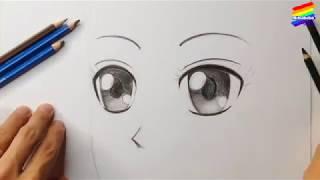 Vẽ mắt theo phong cách manga, anime, chi bi   Bibabibo Channel