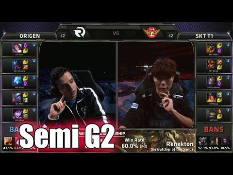SK Telecom T1 vs Origen | Game 2 Semi Finals LoL S5 World Championship 2015 | Origen vs SKT T1 G2
