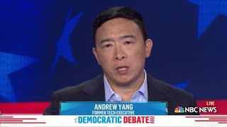 Democratic candidate Andrew Yang explains how his plan for universal basic income would work