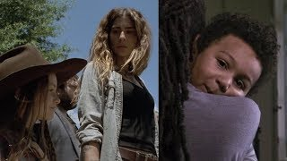 BOTH NEW SNEAK PEEKS episode 7 examined! IS RJ REAL? WHERE'S MAGGIE? TWD Season 9
