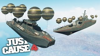 FLYING SHIPS SCIENCE EXPERIMENT in Just Cause 4!