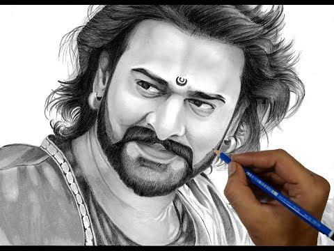 Drawing Bahubali Prabhas | Bahubali 2 Realistic Sketch | Timelapse