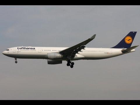 Lufthansa Airbus A330 Landing in Malabo  Equatorial Guinea Runway 22