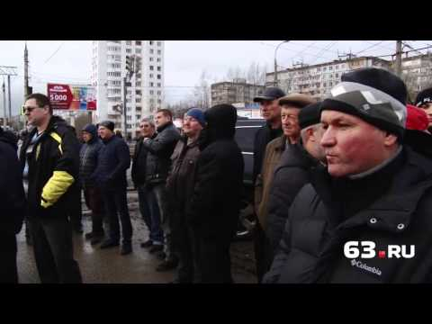 Фуры перекрыли Московское шоссе