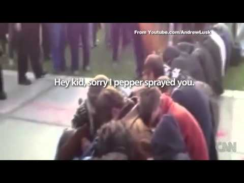 Pepper Spray Pike --- CNN's Jeanne Moos reports