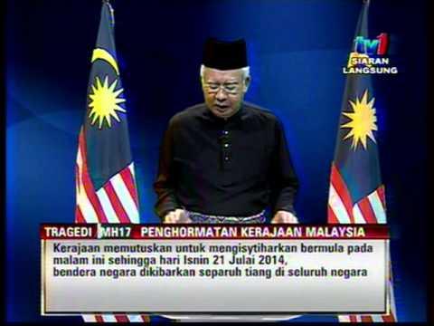 #MH17 - PERUTUSAN KHAS TRAGEDI MH17 OLEH YAB PERDANA MENTERI MALAYSIA