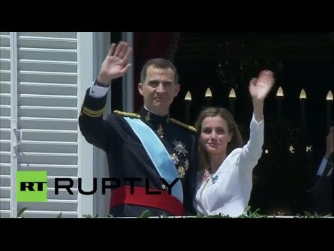 Spain: Newly inaugurated Spanish King appears in public