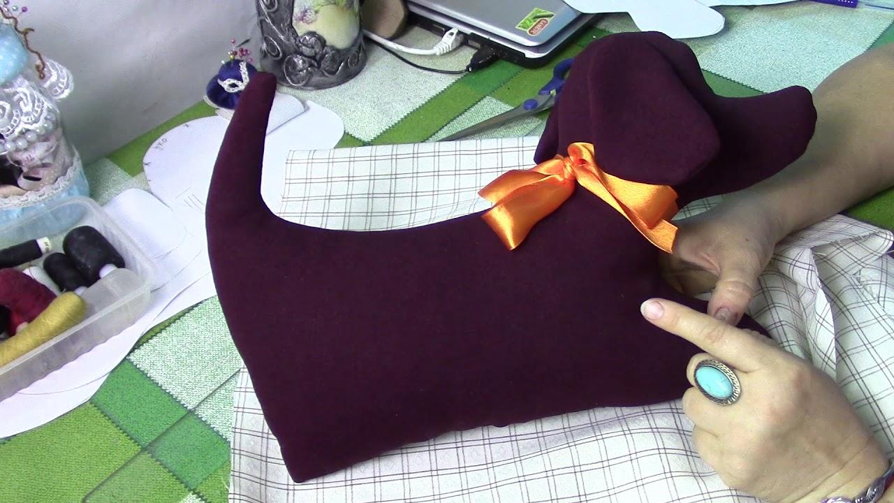 Декоративная подушка собачка своими руками 12