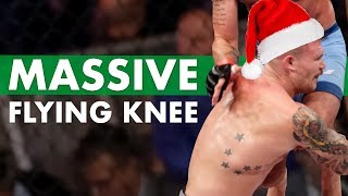 Huge Flying Knee - Crazy Christmas Knockouts - Day 1