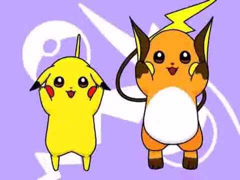 Pikachu and raichu dancing - photo#12
