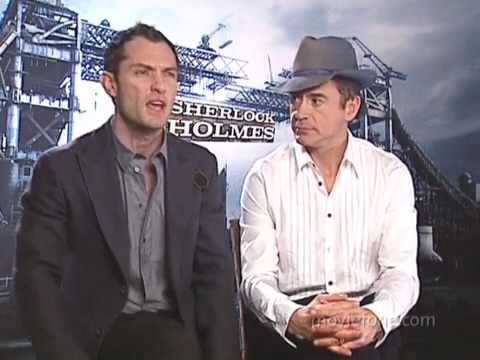 Rober Downey Jr.,Jude Law on moviefone-unscripted about Sherlock Holmes