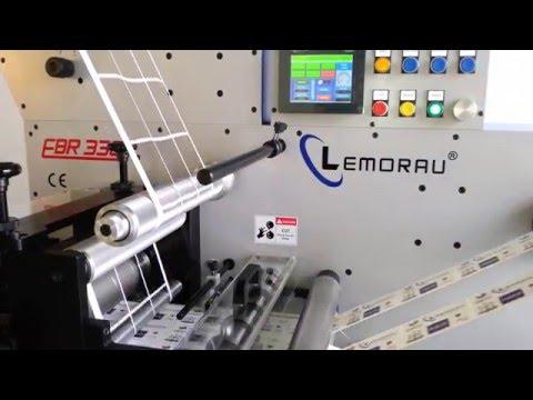 Lemorau EBR 330 Full Servo die cutting to register with lamination